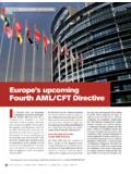 Europe's upcoming Fourth AML/CFT Directive I - …