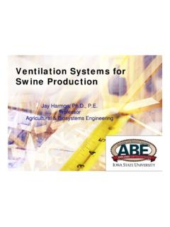 Ventilation Systems for Swine Production - Purdue University