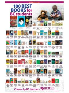 ELEMENTARY 100 BOOKS for BC students - bctf.ca
