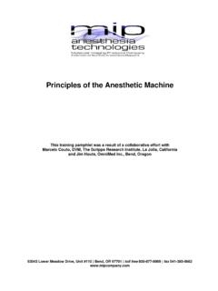Principles of the Anesthetic Machine - Patterson Scientific