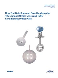 Manual: Flow Test Data Book and Flow Handbook for 405 ...