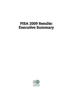 PISA 2009 Results: Executive Summary - OECD.org