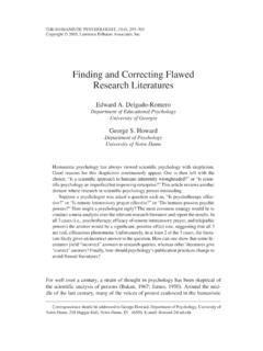 Finding and Correcting Flawed Research Literatures