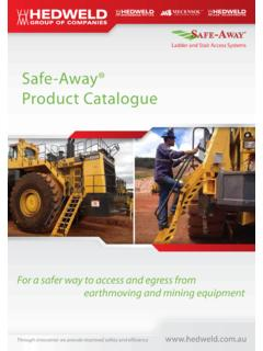 Safe-Away® Product Catalogue - hedweld.com.au
