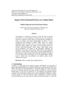 Impact of Environmental Factors on Aviation Safety