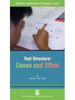 Text Structure: Cause and Effect - PREL