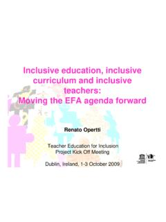 Inclusive education, inclusive curriculum and inclusive ...