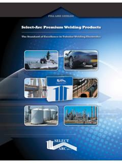 Select-Arc Premium Welding Products