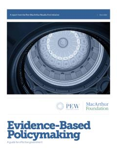 Evidence-Based Policymaking: A Guide for Effective …