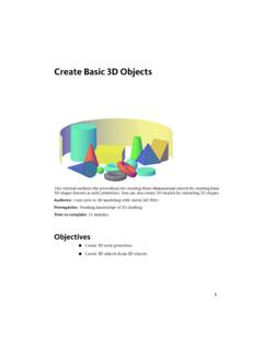 Create Basic 3D Objects - gtu.ge