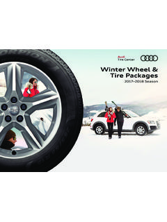 Winter Wheel & Tire Packages - Audi