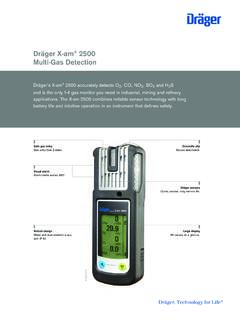 Dräger X-am Multi-Gas Detection - Draeger