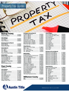 Property Tax Guide 2019 - austintitle.com
