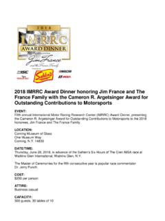 2018 IMRRC Award Dinner honoring Jim France and …