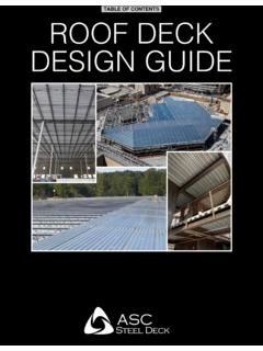 ROOF DECK DESIGN GUIDE - ASC Steel Deck