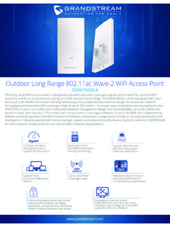Outdoor Long Range 802.11ac Wave-2 WiFi Access …
