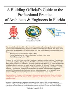 A Building Official's Guide to the Professional Practice ...
