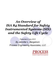 An Overview of ISA 84 Standard for Safety Instrumented ...