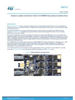 Electronic speed controller for BLDC and PMSM three phase ...