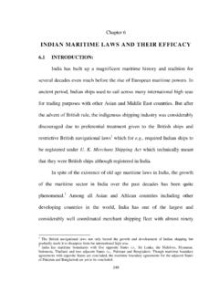 INDIAN MARITIME LAWS AND THEIR EFFICACY