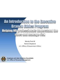 U.S. Office of Government Ethics - OPM.gov