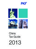 China Tax Guide 2013 - PKF International