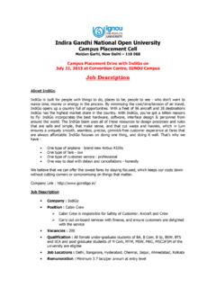 Indira Gandhi National Open University Campus Placement Cell