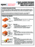 SUPERIOR PACKAGING OPTIONS TYPES OF FLEX CIRCUITS - …