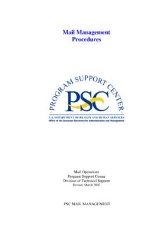 Mail Management Procedures - HHS.gov