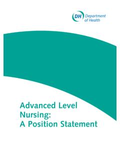 Advanced Level Nursing: A Position Statement