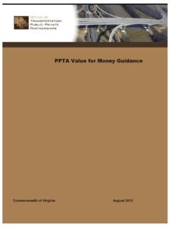 PPTA Value for Money Guidance - Public Works Financing