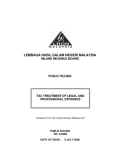 PR Tax Treatment of Legal & Professional Expenses  …
