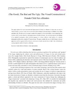 (The Good), The Bad and The Ugly: The Visual Construction ...