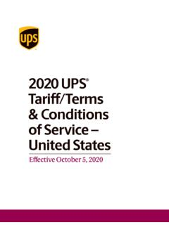 2019 UPS Tariff/Terms and Conditions of Service – United ...