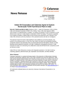IOC and Celanese MOU - News Release - October 9 2014 …