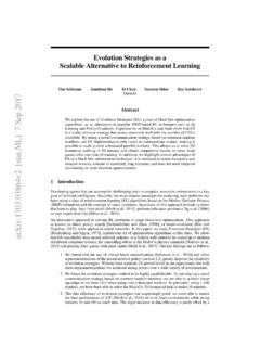 Evolution Strategies as a Scalable Alternative to ...