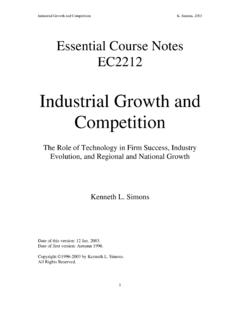 Industrial Growth and Competition