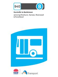 Hurstville to Bankstown servicing Penshurst, Narwee ...