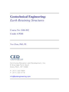 Geotechnical Engineering: Earth Retaining Structures