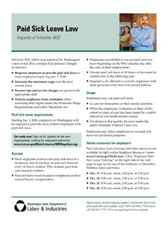 Paid Sick Leave Law