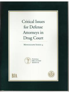 Critical Issues for Defense Attorneys - NDCI.org