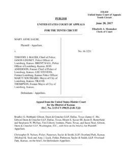 FILED United States Court of Appeals PUBLISH Tenth Circuit ...