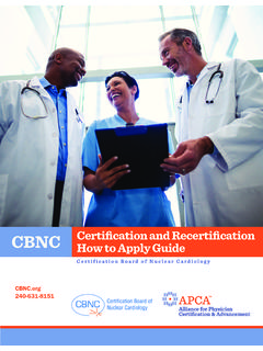 CBNC Certification and Recertification How to Apply Guide