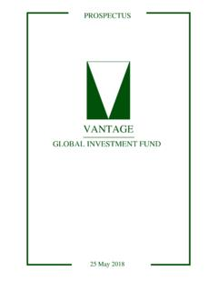VGIF Prospectus May18 - Vantage Funds