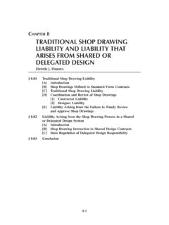 CHAPTER 8 TRADITIONAL SHOP DRAWING LIABILITY AND …