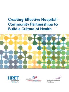 Creating Effective Hospital- Community …