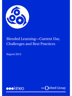 Blended Learning—Current Use, Challenges and …