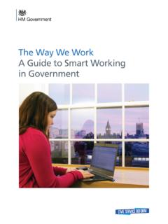 The Way We Work A Guide to Smart Working in Government