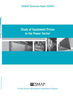 Study of Equipment Prices in the Power Sector - esmap.org