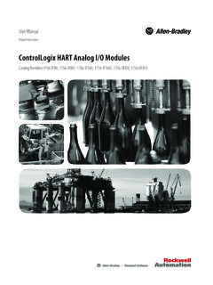ControlLogix HART Analog I/O Modules User Manual, 1756 ...